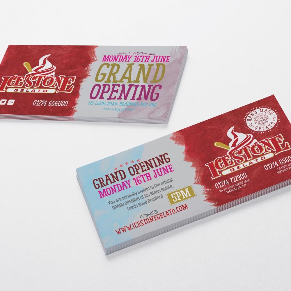 IceStone Gelato Invitation Cards